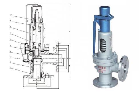 a41微启式锅炉安全阀 -a41微启式锅炉安全阀结构图