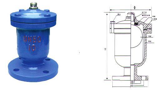 单口排气阀 -单口排气阀结构图