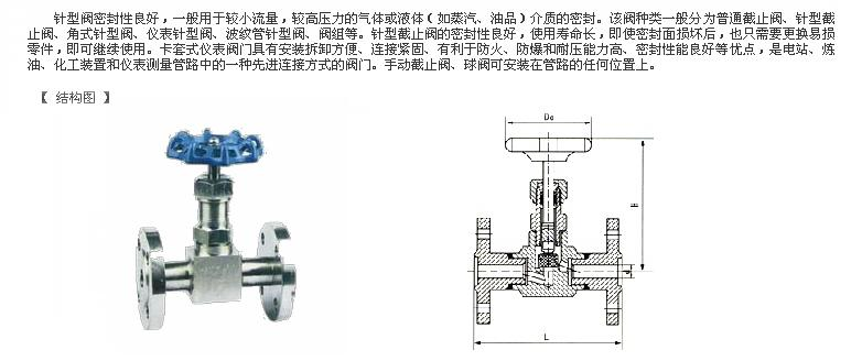 法兰式针型阀 -法兰式针型阀结构图