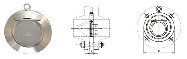 产品概述: 本公司生产的WM410系列对夹圆片式止回阀,是一种超薄形止回阀,它具有结构简单、外形美观、重量轻、安装方便等优点。该阀主要适用于给水系统、石油、化工、冶金等工业部门对有安装空间限制的场所最为适用。