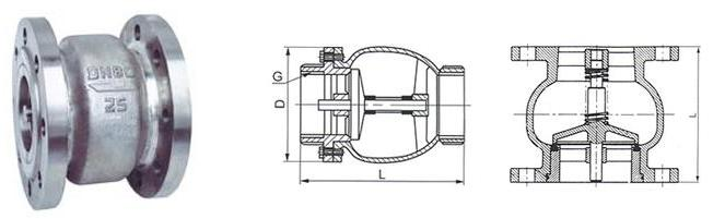 防水锤消声止回阀 -防水锤消声止回阀结构图