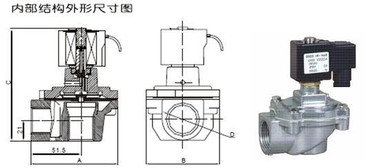 直角式脉冲电磁阀 -直角式脉冲电磁阀结构图图片