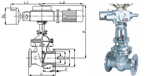 电动楔式闸阀 -电动楔式闸阀结构图