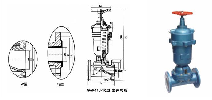 常开式气动隔膜阀 -常开式气动隔膜阀结构图,常开式阀